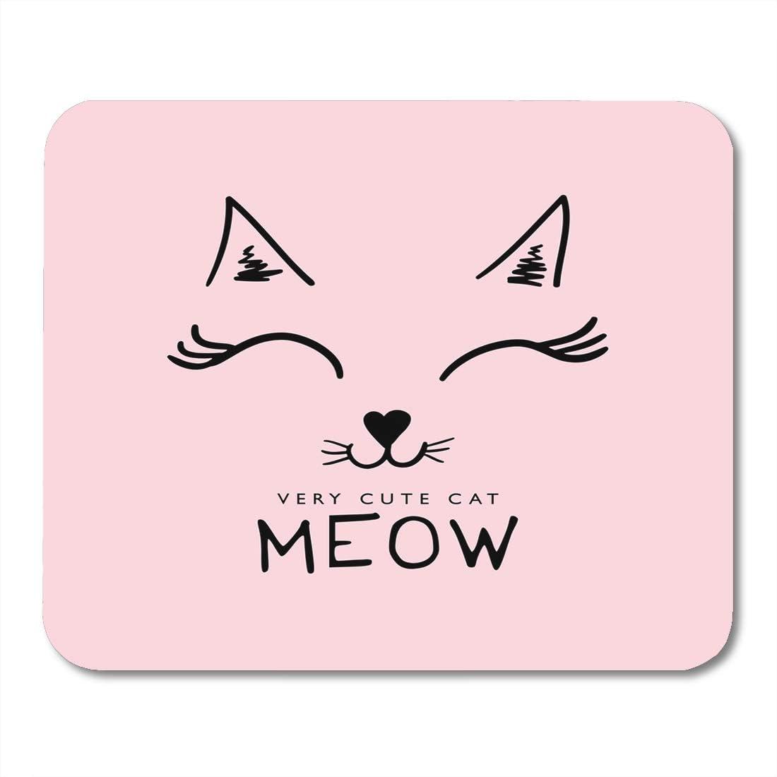 Amazon Com Boszina Mouse Pads Slogan Pink Animal Cute Cat Face
