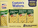 Captain's Wafers Crackers Cream Cheese & Chives 8 On -The -Go Packs (3 Boxes) Total Net WT. 11 OZ(312g)