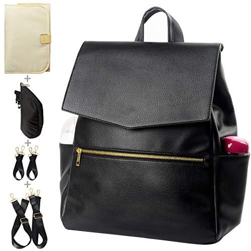 KZNI Leather Diaper Bag