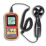 KORADA GM8901 LCD Digital Wind Speed Temperature Measure Gauge Anemometer / Ideal tool for Windsurfing, Sailing, Fishing, Kite Flying and Mountaineering