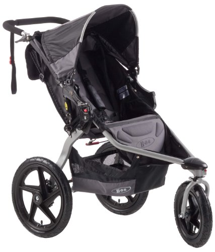 BOB Revolution SE Single Jogging Stroller, Black - Revolution Jogging Stroller