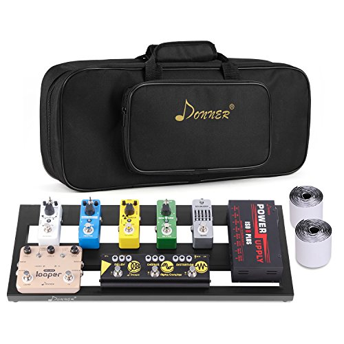 Donner Guitar Pedal Board Case DB-2 Aluminium Pedalboard with Bag by Donner