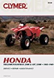 Honda TRX250R/Fourtrax 250R and ATC250R, 1985-1989, Clymer Publications Staff and Penton Staff, 0892875402
