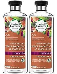 Herbal Essences, Shampoo, BioRenew White Grapefruit & Mosa Mint Naked Volume, 13.5 fl oz, Twin Pack