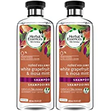 Herbal Essences Bio:renew White Grapefruit & Mosa Mint Naked Volume Shampoo, 13.5 Fluid Ounces Paraben Free (Pack of 2)