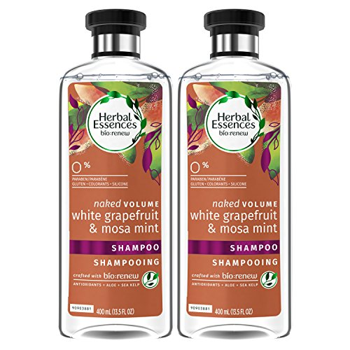 Clairol Herbal Essence Herbal Shampoo - Herbal Essences, Shampoo, BioRenew White Grapefruit & Mosa Mint Naked Volume, 13.5 fl oz, Twin Pack