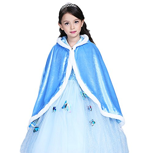 Costumes Ideas Halloween Pocahontas (Girls Cloak, Birthday Party Halloween Show Dress-up Costume Elsa/Sophia Princess Cloak, Autumn Winter Warm Cloak Coat)
