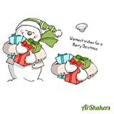Art Impressions Shakers Card Set, Snowman