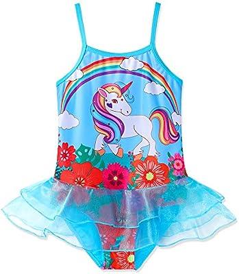 US STOCK Girls Toddlers Unicorn  Swimsuit Swimwear Bathing swimming Bikini O07