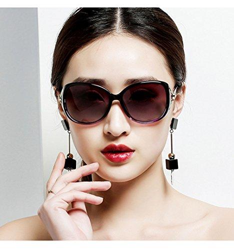 De Gafas Polarizadas De Metal Elegante Red Resina QQBL De De Sol Purple Mujer Plástico dHtndxIqR