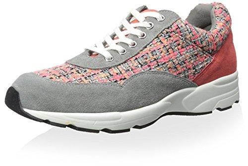 J Slides Womens Jogger Trainer Coral/Grey