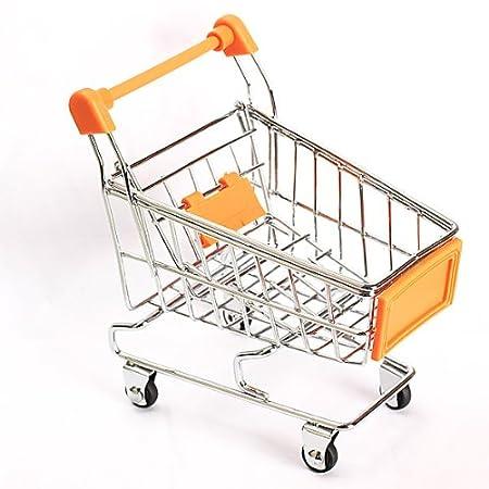 Whitelotous Mini Supermarket Handcart Shopping Utility Cart Mode Storage Pink Gift