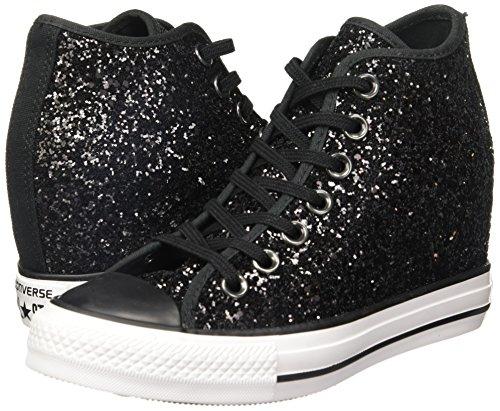 Mid All De Coin Chaussures Scintillantes Noir Star Interne Converse Lux tAqw4dzw