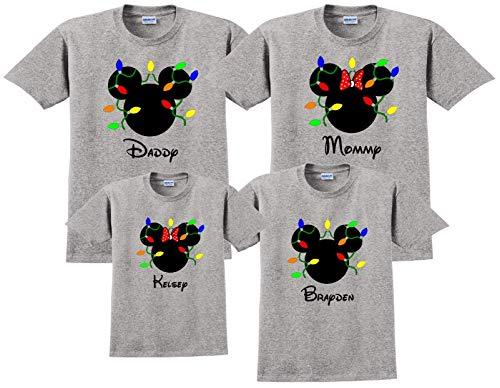 CHRISTMAS LIGHTS Disney Vacation Disney Group Shirts Disney Matching Shirts Disney Personalized Shirts Disney Family Shirt]()