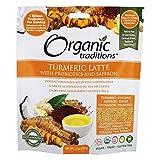 Organic Traditions Turmeric Latte Powder with Probiotics and Saffron, 150 Grams