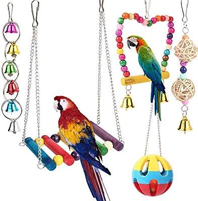 BOTTLEWISE 5pcs Juguetes Coloridos para Pájaros en Juala, con ...