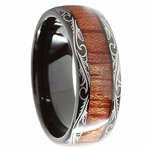 Inlay Tungsten Carbide Ring - 3