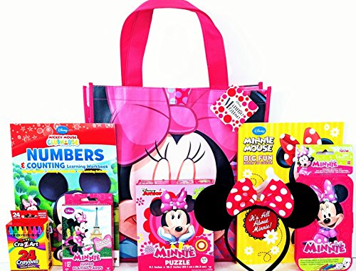 Minnie Mouse Coloring & Activity Gift Set with Reusable Tote Bag, Ears, Educational Workbook & More!]()