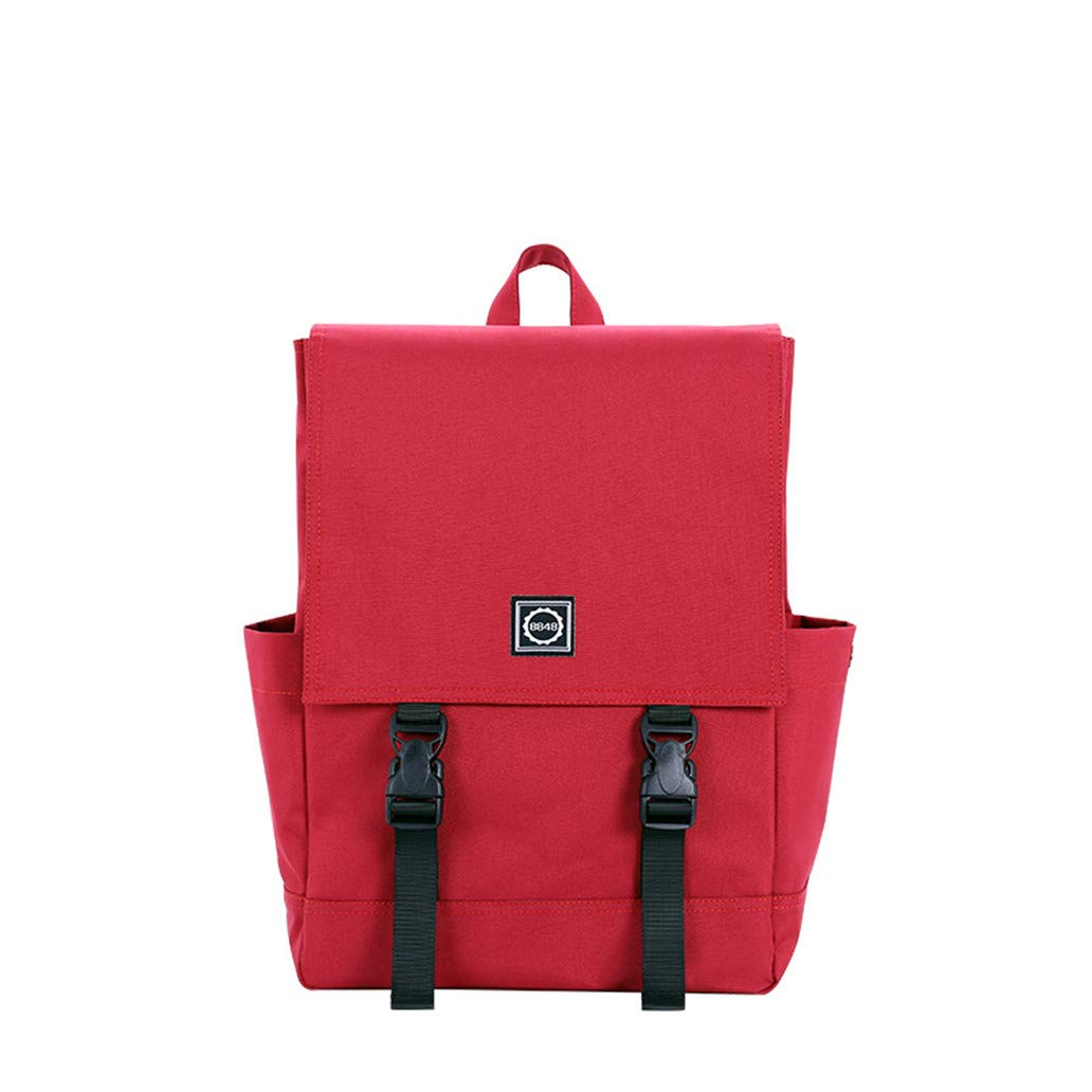 Red Vintage Women Canvas Backpack Men Oxford Waterproof Travel Leisure Backpacks Laptop School Bags for Teenager Green