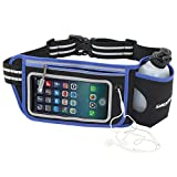 Cheap silexfit Hydration Runnig Belt – Fits iPhone 6, 6S, 6S Plus, 7, 7 Plus, 8, 8 Plus And X – With One 10 oz Bottle Adjustable Fuel Belt For Men And Women With Reflective Stripse And Touchscreen Cover