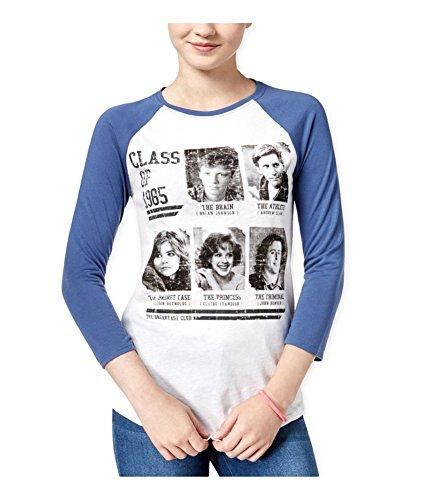 Hybrid Womens The Breakfast Club Yearbook Graphic T-Shirt whitenavy XS