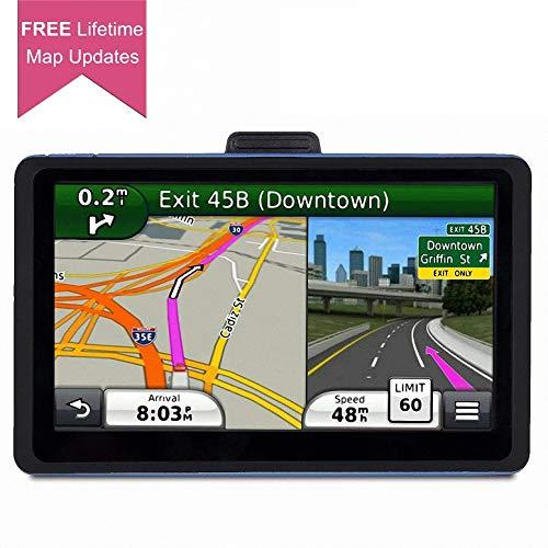 Navigation System for Cars, 7 inch Car GPS Spoken Turn- to-Turn Vehicle GPS Navigator, Lifetime Map Updates, Sat-Nav