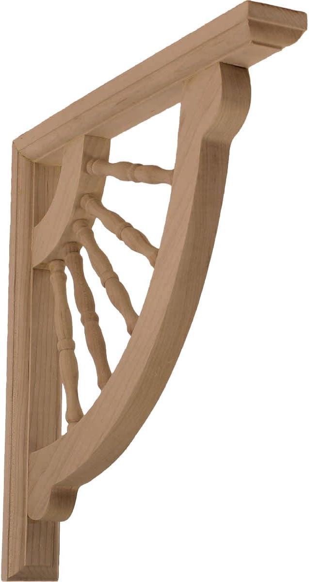 Cherry Ekena Millwork BKT01X07X07ADCH-CASE-6 1 2 inch W x 7 inch D x 7 inch H Andrea Wagon Wheel Bracket 6-Pack ,