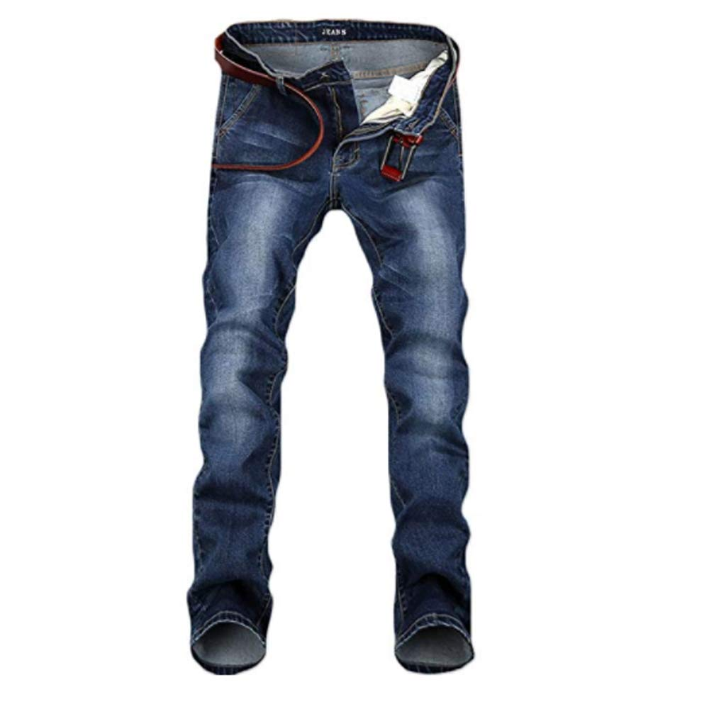 WEEN CHARM Men's Skinny Slim Fit Stretch Denim Jeans Elasticity and Comfortable Biker Pants