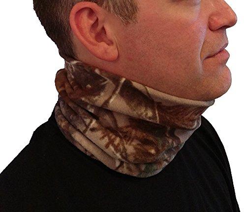 Neck Gaiter Camo 2-in-1 Microfiber Polar Fleece Neck Warmer and Face Mask
