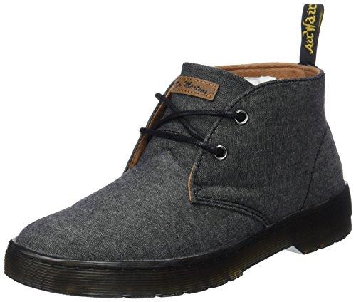 Twill Martens Dr Stivali Uomo Nero Black Black Mayport Chambray Desert Boots WBITSBq