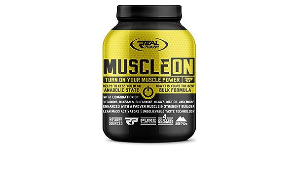 Real Pharm Muscle ON Weight Gainer Bulk – 2270 g (galletas ...