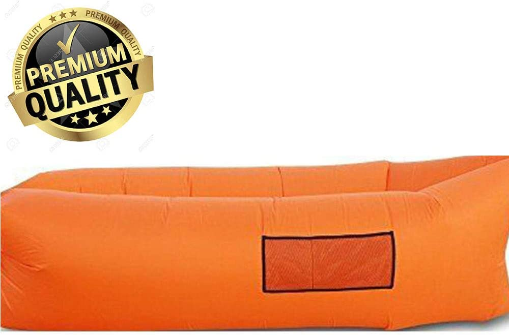 GJTr Inflatable Lounger Portable Hammock Air Sofa Water Proof /& Anti-Air Leaking Camping Chair Ideal Backyard Lakeside Traveling Couch and Beach Camping Accessories for Picnics /& Festivals