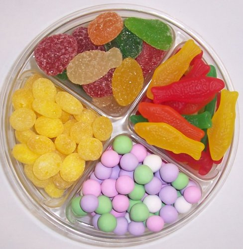 Scott's Cakes 4-Pack Chocolate Dutch Mints, Lemon Drops, Pectin Fruit Gels, & Swedish Fish by Scott's Cakes (Image #1)