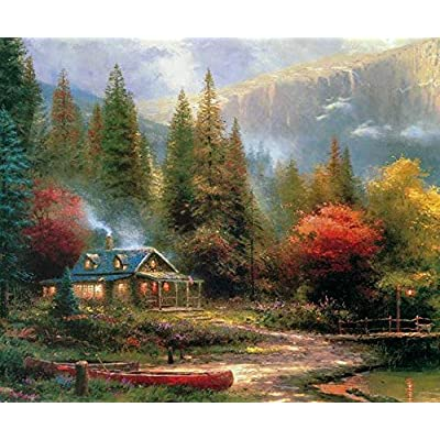 Thomas Kinkade Inspirations Collection The End of A Perfect Day III Puzzle - 300Piece: Toys & Games