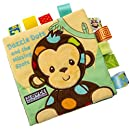 XILALU Baby toy, Lovely Animal Monkey Puzzle Cloth Book Baby Toy Cloth Development Books