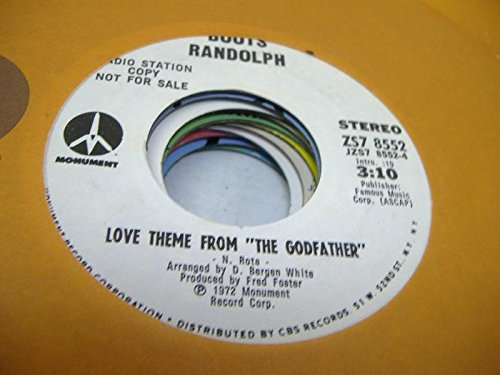 """Price comparison product image BOOTS RANDOLPH 45 RPM Love Theme From """"The Godfather"""" / Rocky Top"""