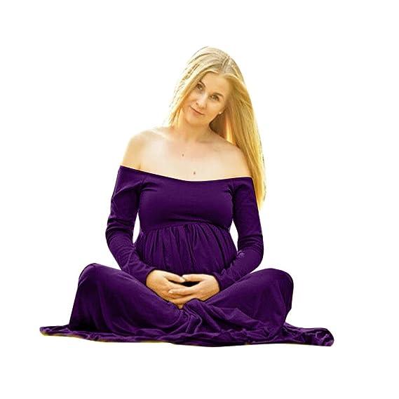 K-youth® Vestidos Mujer Fiesta Largos Boda Embarazada Vestido de maternidad Foto Shoot Dress Faldas Fotográficas de maternidad Apoyos De Fotografía Playa ...