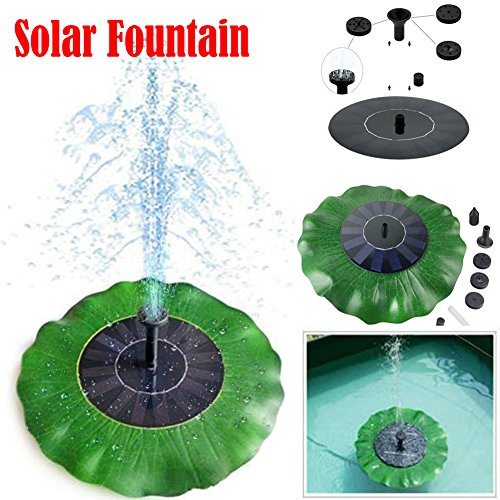 Leaf Outdoor Fountain - FashionSun Solar Fountain,Solar Powered Bird Bath Lotus Leaf Fountain Pump Water Pump