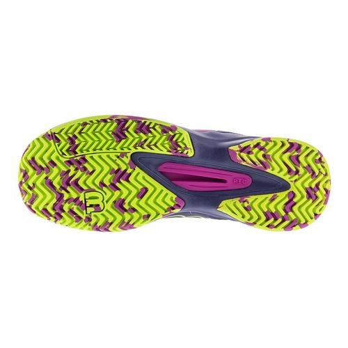 Wilson Kaos Comp Women's Tennis Shoe Purple/Navy/Neon B015S434CS 6.5 B(M) US|Pink/Navy/Green