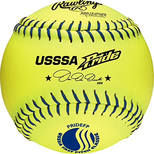 ial Fastpitch Softballs, 12 Count, PRIDEFP (Poly Core Leather Fastpitch Softball)