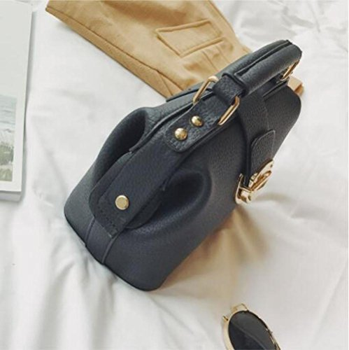Moda Donna Della Tracolla Dhfud A Le Bag Messenger Tendenze Nera TqEvP