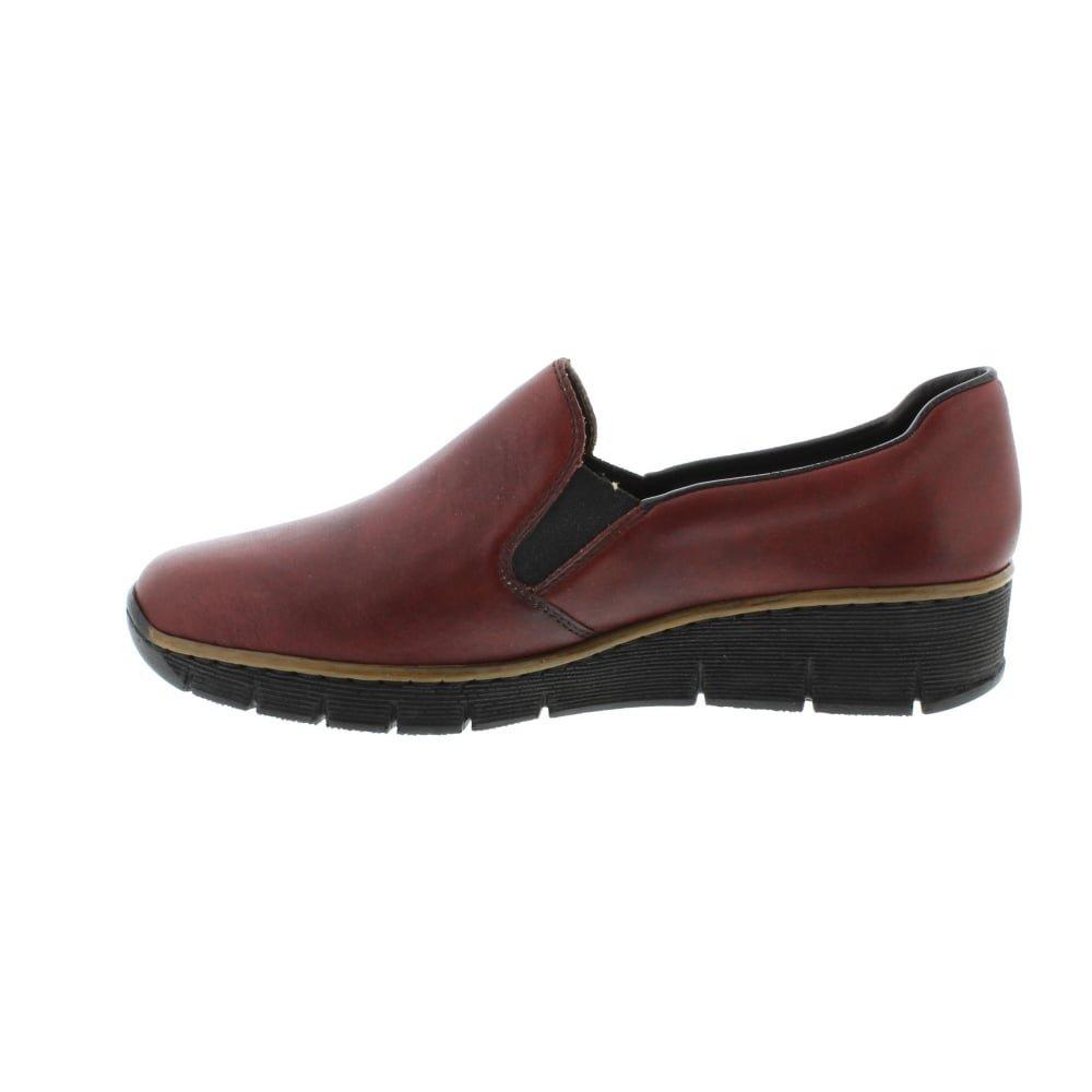 Rieker Melgar Womens Casual Shoes B071NY48P6 6 B(M) US|Red