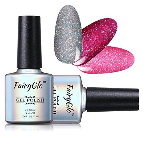 3 COLORS COMBO Gel Polish UV LED Neon Bling Shimmer Sensational Varnish Soak Off Lacquer Nail Art Gift Set Base Top 10ml 170 By FairyGlo
