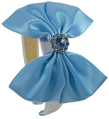 Cinderella Satin (Cinderella Inspired Sparkling Glitter Satin Bow Headband)