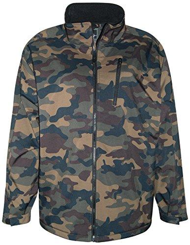 Windblock Jacket - Pulse Men's Big Sizes Soft Shell Jacket Camoflauge (4X, Camo)