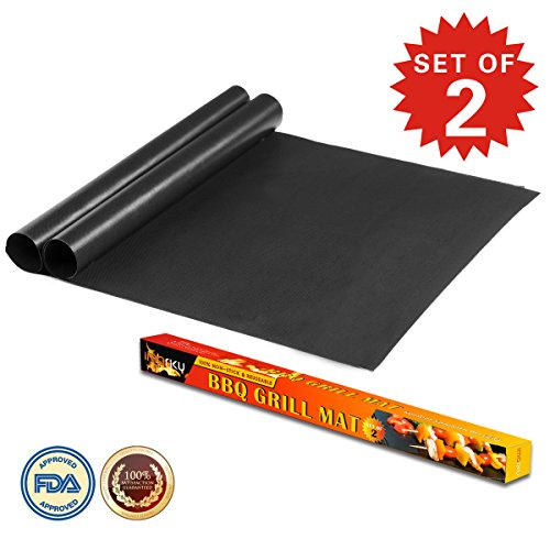 Imarku BBQ Grill & Baking Mats, Durable, Heat Resistant, Non-Stick Grilling Accessories (Set of 2) by imarku