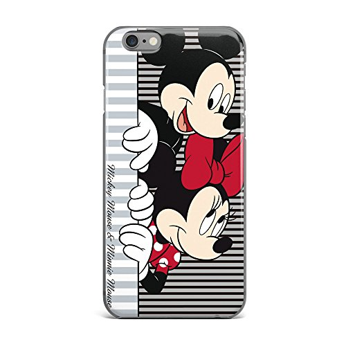 us Case Disney Cartoon Mickey Minnie Mouse Soft Transparent TPU Protector Cover for iphone 7 plus (5.5 inches) #02 (Minnie Mouse Cover)