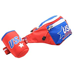 Tipsy Elves LLC Red Patriotic USA Fanny Pack with Drink Holder