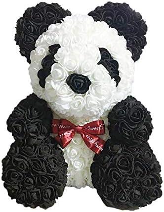 Monland Flores de Rosa Panda Panda Blanco y Negro con Corbata ...