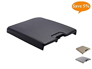 VeCarTech Center Console Lid Kit with Latch Replacement for 2007-2013 Chevy Tahoe/Avalanche/2008-2014 Silverado/GMC Yukon(XL)/Sierra 1500/2500/3500 Center Console Cover Repair Kit OEM 20864151(Black)